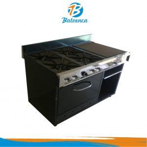 Cocina Industrial 4 Hornillas con Múltiples Funciones MP
