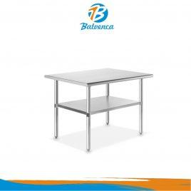 Mesas de trabajo c/ entrepaño 1.2mts