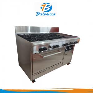 Cocina Industrial 6 Hornillas con Múltiples Funciones en Acero Inox. MP