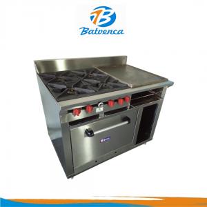 Cocina Industrial 4 Hornillas con Múltiples Funciones en Acero Inox. MStar