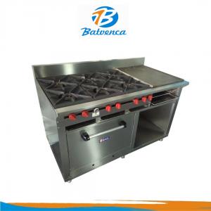 Cocina Industrial 6 Hornillas con Múltiples Funciones en Acero Inox. MStar